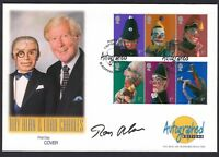 Ray Alan English Ventriloquist TV Entertainer Signed Autograph 2001 Stamp Cover