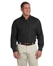 Harriton Men's Long-Sleeve, Short Sleeve, Tall Denim Shirts, XLT 2XLT 3XLT S-6XL
