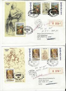 ST THOMAS AND PRINCIPE SCOTT # 707-8 + S/S ON REGISTERED FDC
