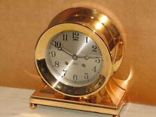 CHELSEA ANTIQUE SHIPS BELL CLOCK~COMMODORE MODEL~ 6 IN DIAL~1929~RESTORED