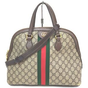 Gucci Hand Bag Ophidia Browns PVC 1516979