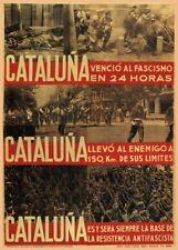 Cataluña Fascism Defeated, 1937, Spanish Civil War Propaganda Poster