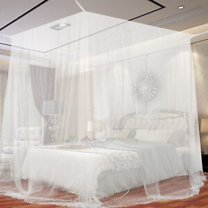 Weiß Moskitonetz Betthimmel Fliegennetz Mückennetz Baldachin Insektennetz