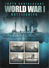 Liberia 2014 MNH WWI 100th Anniv World War I Battleships 4v M/S Asahi Stamps