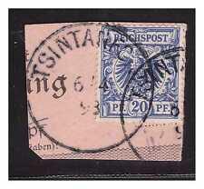 Kiautschou Vorläufer V 48 ° Tsintanfort 6.4.98 Luxus PA Briefstück