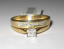 Solitaire Yellow Gold 10k Engagement & Wedding Ring Sets