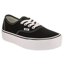 ea801cee39 VANS Authentic Platform Vn0a3av8blk Black White Canvas Casual Shoes (b M) Women  Blacks 6.5