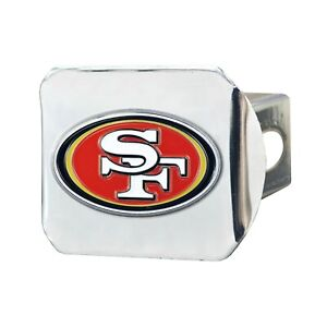 Fanmats NFL San Francisco 49ers 3D Color on Chrome Hitch Cover Delivery 2-4 Days