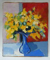Tableau Peinture Acrylique sur Toile Bouquet Non Signé 46 cm x 55 cm