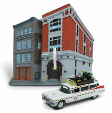 GHOSTBUSTERS Cadillac Ecto 1A + Headquarters Gebäude*Johnny Lightning 1:64 SALE