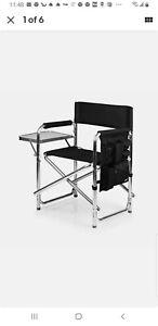 ONIVA - a Picnic Time Brand Portable Folding Sports Chair, Black