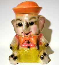 Vintage Chalkware Elephant Sailor Carnival Piggy Bank