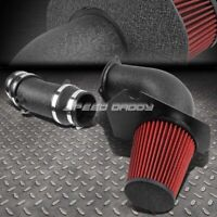 FOR 94-95 MUSTANG GT/SVT 5.0 WRINKLE FINISH ALUMINUM COLD AIR INTAKE+HEAT SHIELD