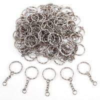 100x Anneau 25mm pour porte-cles porte clefs chaine 30mm metal argente bijo I2A8