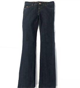 Rock & Republic Womens Bootcut Jeans Dark Wash Stretch Denim Allow Waist Size 26