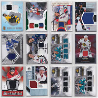NHL Game Used Jersey Patch Numbered Cards - Choose From List SP Stadium Series