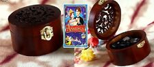 VINTAGE CIRCLE WOODEN  MUSIC BOX : ♫ Anastasia:Once Upon A December ♫