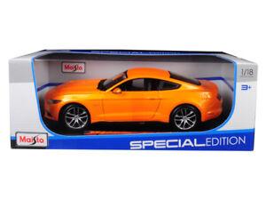 1/18 Maisto 2015 Ford Mustang GT 5.0 Diecast Model Car Metallic Orange 31197
