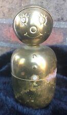 Antique English Brass Snowman Bank - Unique