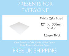 "100 x 12"" Square White Cake Board FREE SHIPPING"