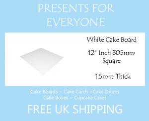 "100 x 12"" Square White Cake Board FREE SHIPPING"