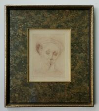 DAVID PHILLIP ANDERSON (1926-1996) - PENSIVE HEAD - ORIGINAL SIGNED ETCHING