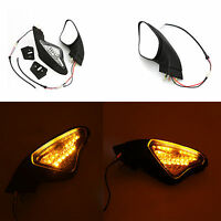 View Side Mirrors Turn Signal Light Fit For Ducati 848 1098 1098S 1098R 1198 S