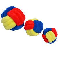 3 Sizes Durable Chewing Colorful Plush Rope Balls Dog Toys for Medium, Large Dog