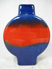 Beautiful GLAZED 70´s Design Argento Cardo ceramica pottery vaso 122/14