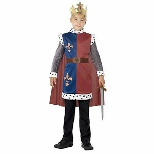 Kids Boys Royal Prince Wedding King Arthur George Fairytale Fancy Dress Costume