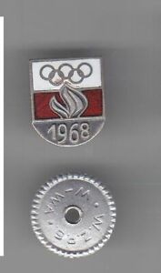 Mexico 1968 Poland Olympic Committee N.O.C OLYMPIC PIN BADGE