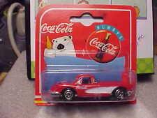 Majorette Coca Cola 1958 Chevy Corvette Red on Short Card