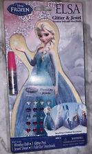 DISNEY FROZEN ELSA Wooden Doll & Foldout Storybook Glitter & Jewels