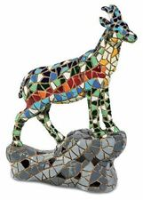 More details for mosaic effect mountain goat figurine statue sculpture wild animal
