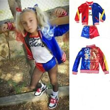 Women Kid Girls Suicide Squad Harley Quinn Fancy Dress Halloween Cosplay Costume