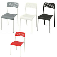 Ikea ADDE Chairs Steel Legs Modern Tested Stackable Kitchen Office Use Chairs