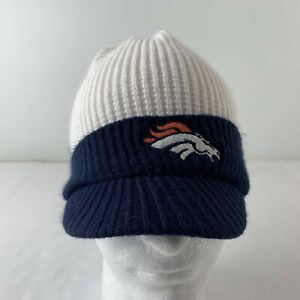 Vintage Denver Broncos NFL Knit Hat Skull Cap Winter Hat One Size Reebok Outdoor