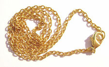 Chain Necklace Handmade Gold plated Steel, ALL SIZES 16