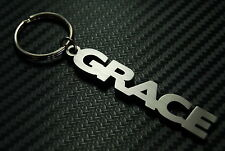 GRACE Personalised Name Keyring Keychain Key Fob Bespoke Stainless Steel Gift