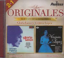Gloria Lasso y Virginia Lopez Los Originales 2 en 1 CD New Nuevo sealed