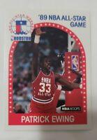 1989 1990 PATRICK EWING NEW YORK KNICKS ALL STAR HOOPS BASKETBALL CARD 159
