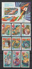 Russia 1980 Sc 4820, 4835-37, 4849-51, 4865-67 Intercosmos Space Program Mnh