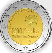 """BELGIE SPECIALE 2 EURO 2014 UNC  """"100 JAAR SINDS BEGIN VAN WO 1"""""""