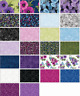 """Midnight Poppies 40) 2.5"""" Jelly Roll Strips 100% Cotton PreCut Quilting Fabric"""
