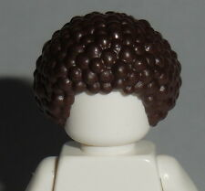 HAIR Lego M001 Male / Unisex Dark Brown Afro Bubble NEW Genuine Lego Girl Boy