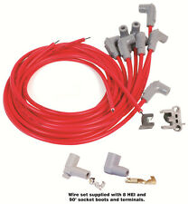 MSD Spark Plug Wires Spiral Core 8.5mm RED 90 Deg Boots Universal V8 Set 31239
