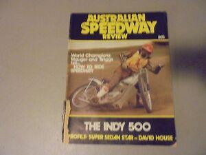 1976? AUSTRALIAN SPEEDWAY REVIEW MAGAZINE, RACING DIRT, DOWN UNDER ,SPRINTS,SIDE