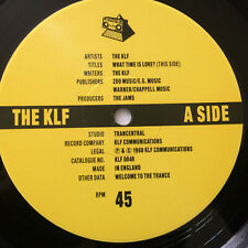 """The KLF – What Time Is Love - '89 Primal Remix 1989 UK Vinyl 12""""  KLF4R  NMINT"""
