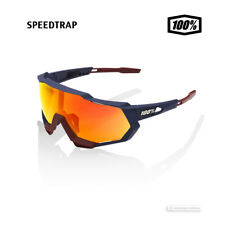100% SPEEDTRAP Cycling UV Sunglasses SOFT TACT FLUME/HiPER RED MIRROR