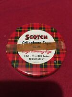 Vintage Metal Scotch Brand Cellophane Tape Tin No. 175 Transparent EMPTY